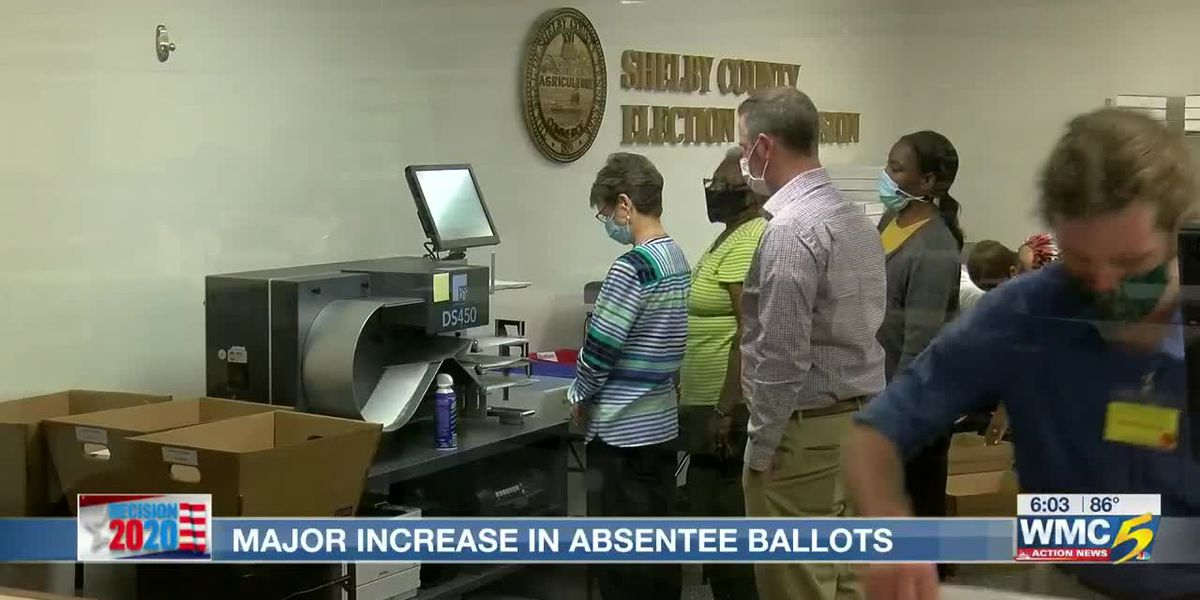 Shelby Co. Election Commission sees major increase in absentee ballots