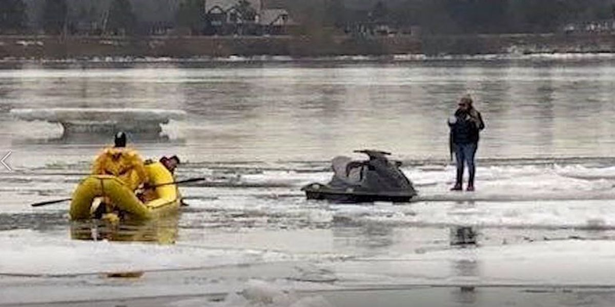 Trio tries to enter U.S. illegally on a jet ski, gets stuck in ice