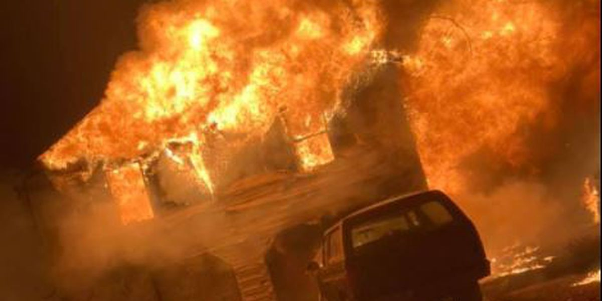 Deputies save family from burning home