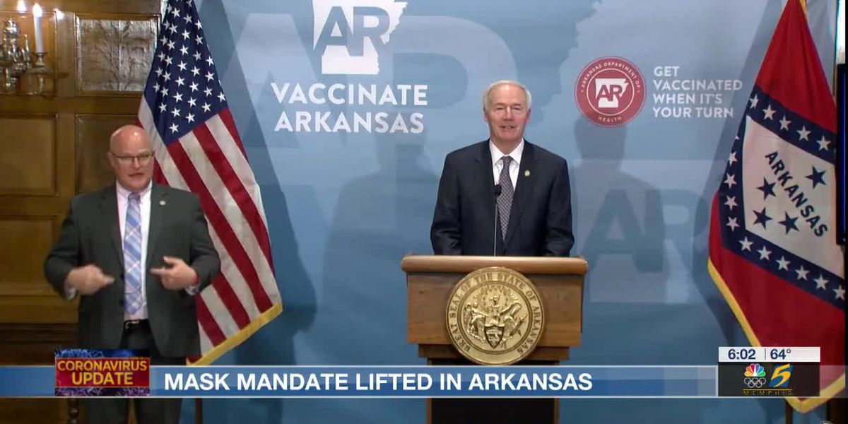 Arkansas Gov. lifts statewide mask mandate, opens vaccines to 16 and older