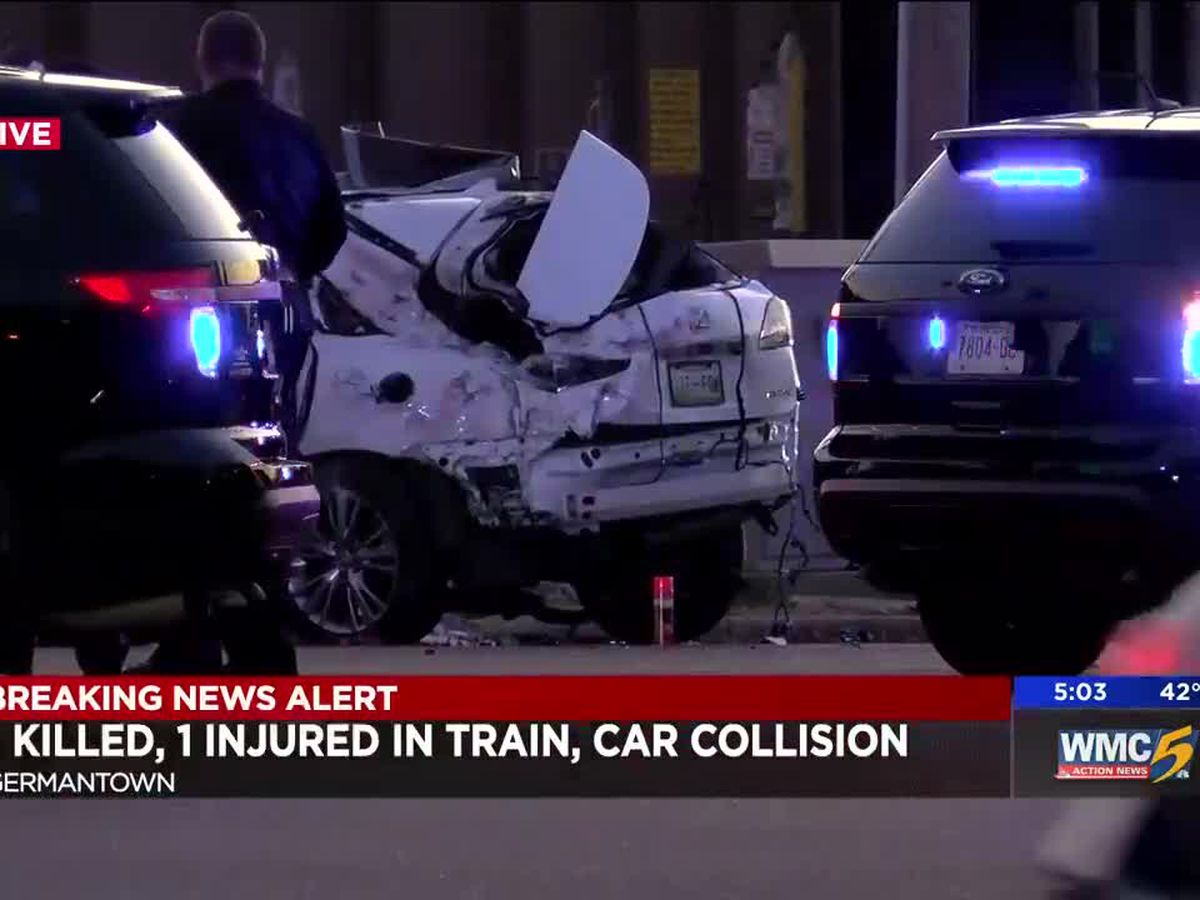 1 dead, 1 hospitalized after train hits car in Germantown