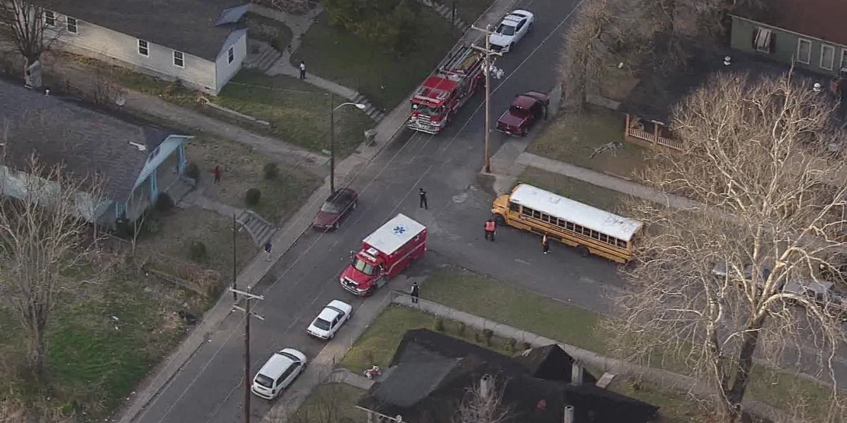 School bus crashes in South Memphis