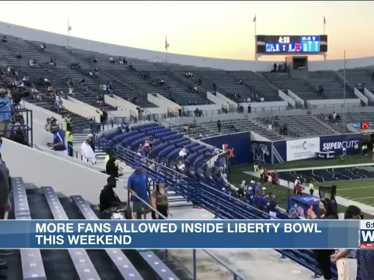 University of Memphis prepares to welcome expanded crowd at Liberty Bowl for football game Vs UCF
