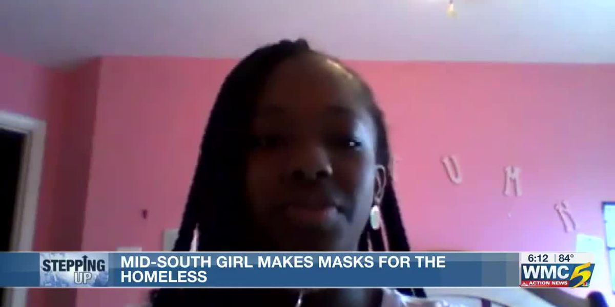 Mid-South middle schooler makes masks for the homeless