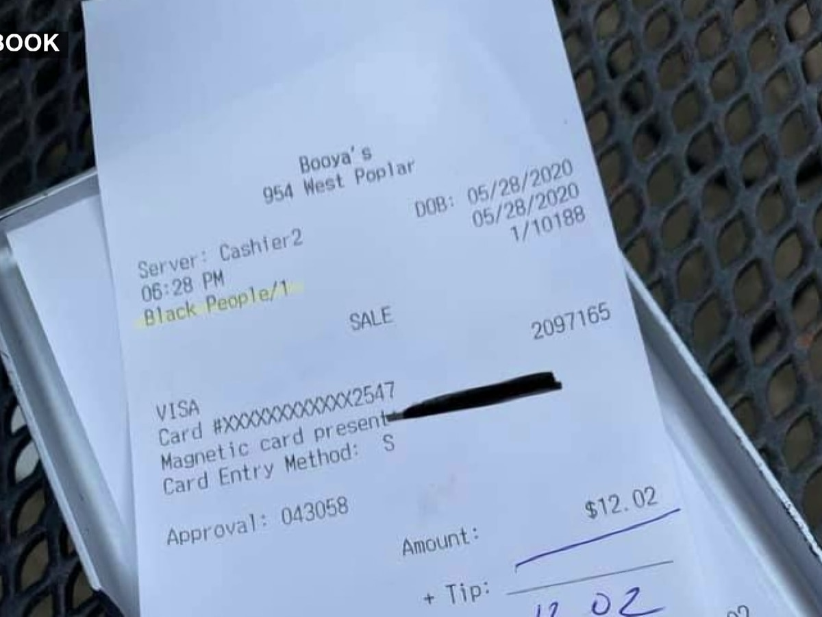 Collierville restaurant employees suspended after writing 'black people' on ticket