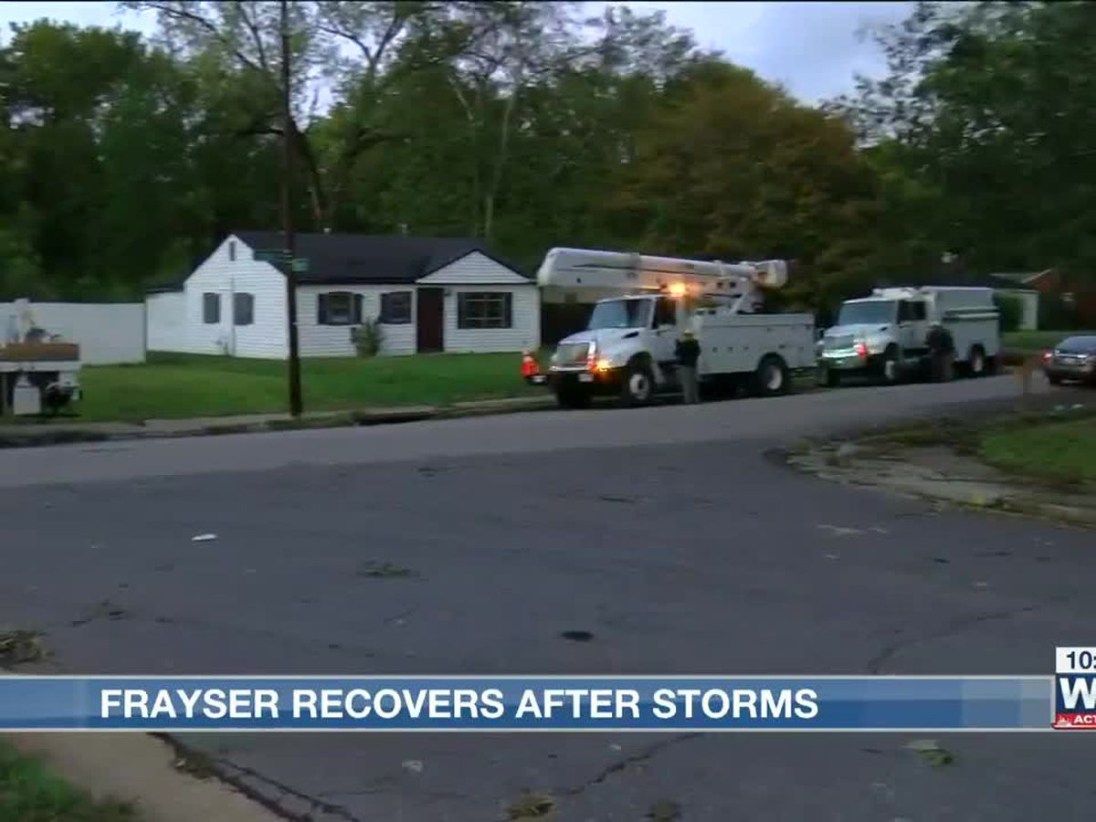 Frayser residents left without power after severe weather strikes