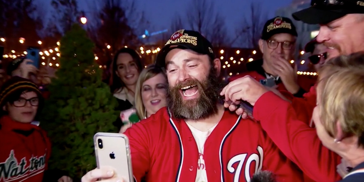 Nationals fan chops off beard for first time since 2012