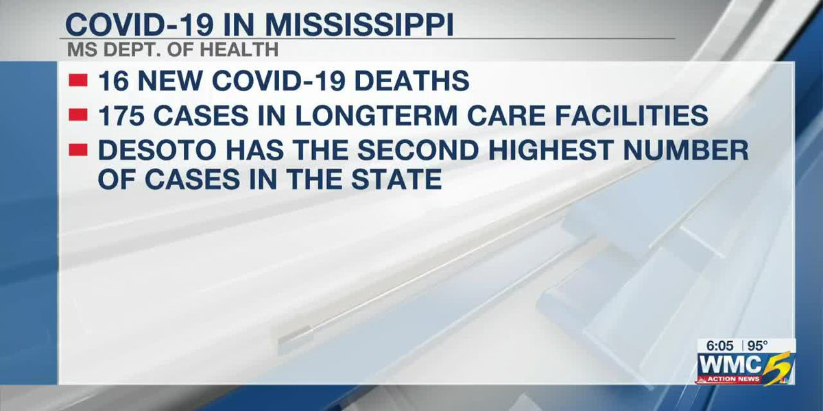 Latest on Mississippi COVID-19 numbers