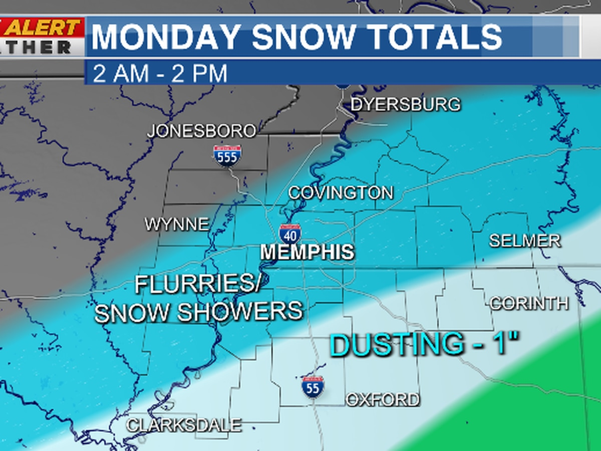 FIRST ALERT: Snow could accumulate in some areas on Monday