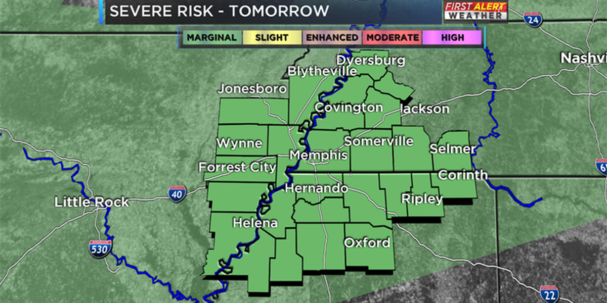 A few severe storms Thursday: A look which areas have the best chance
