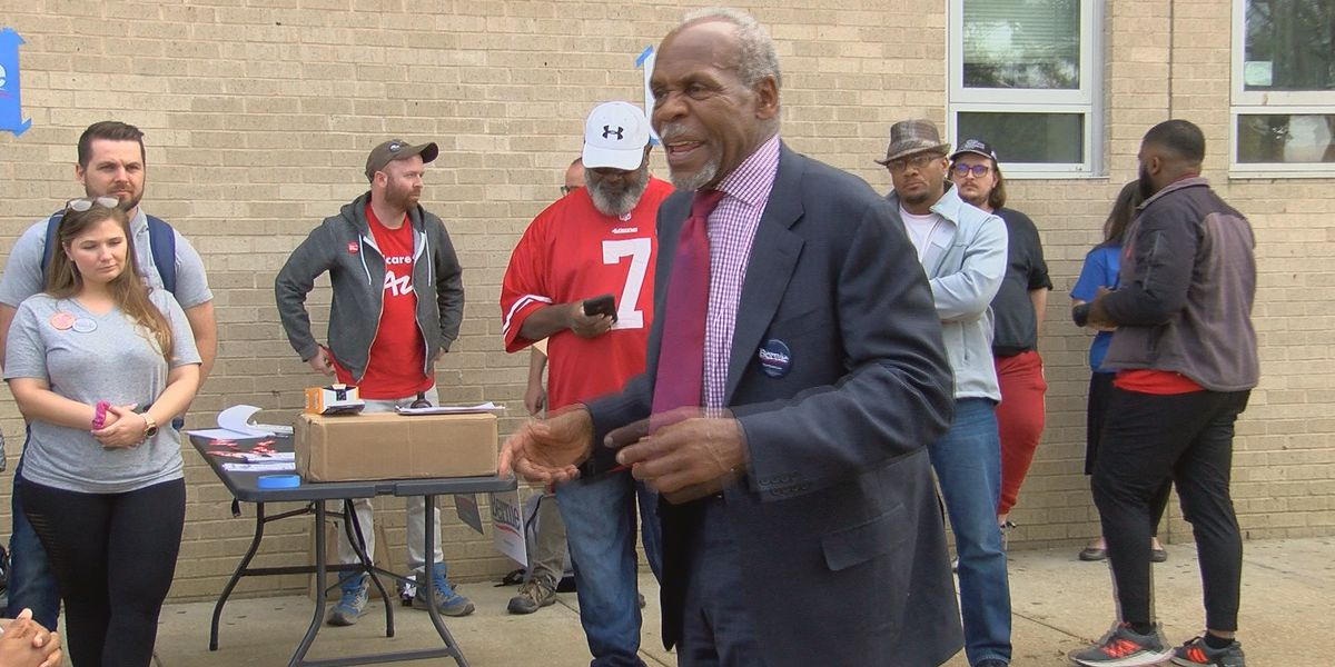 Actor Danny Glover, supporters canvass Jackson neighborhoods in support of Bernie Sanders