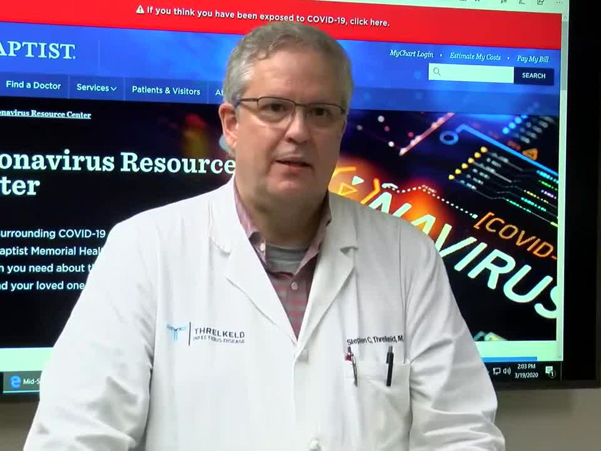 WATCH: Infectious disease expert at Memphis hospital answers questions about COVID-19