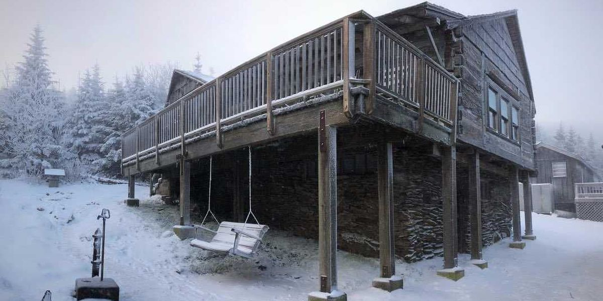 Parts of Great Smoky Mountains received snow Saturday