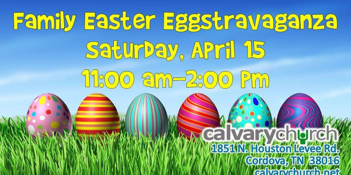 Great weather for Eggstravaganza at Calvary Church in Cordova