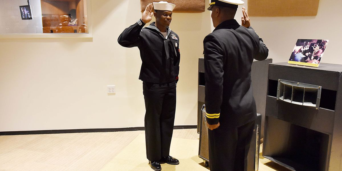 Mid-South sailor re-enlists at Memphis' historic Stax recording studio