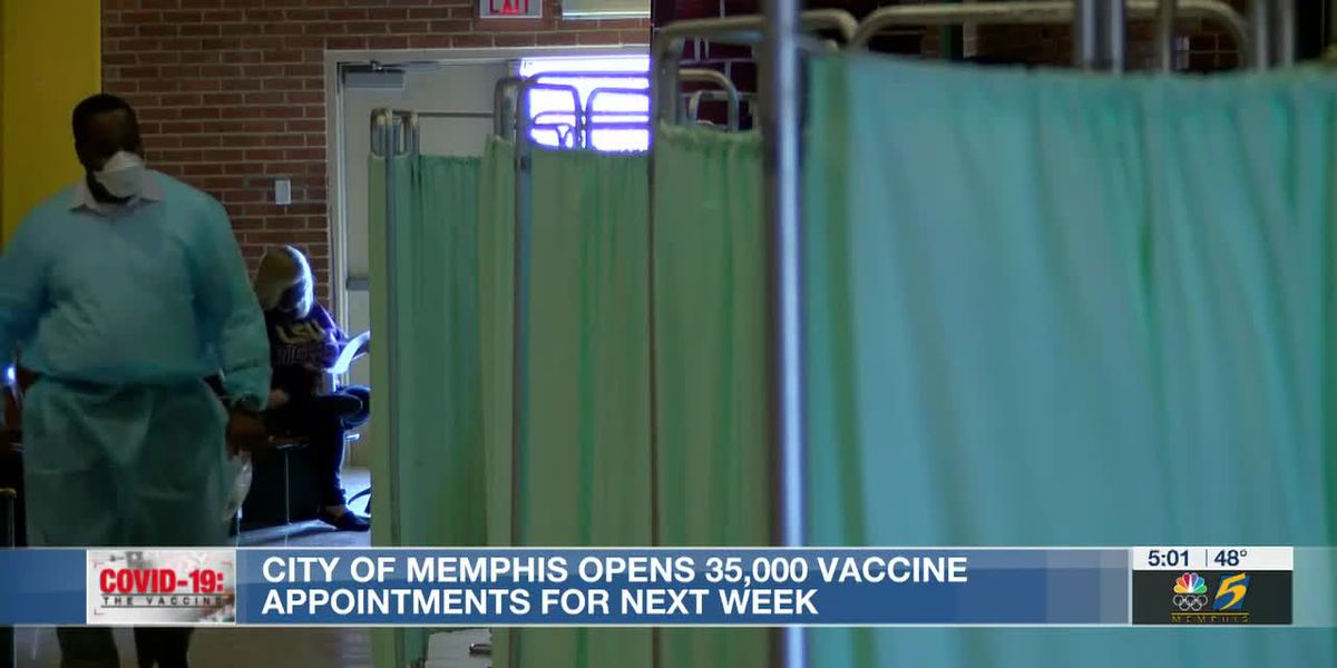 City of Memphis opens 35,000 vaccine appointments for next week