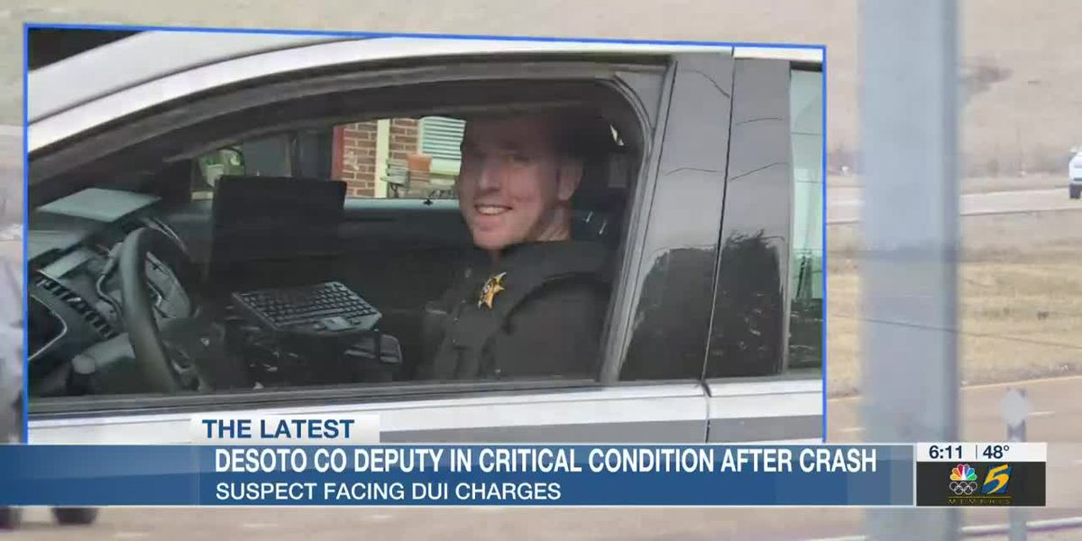DeSoto County deputy remains in hospital, suspect charged with DUI