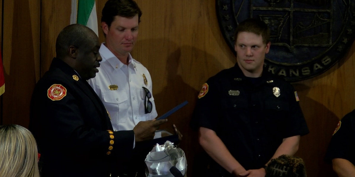 West Memphis firefighters honored for helping resident cut his grass
