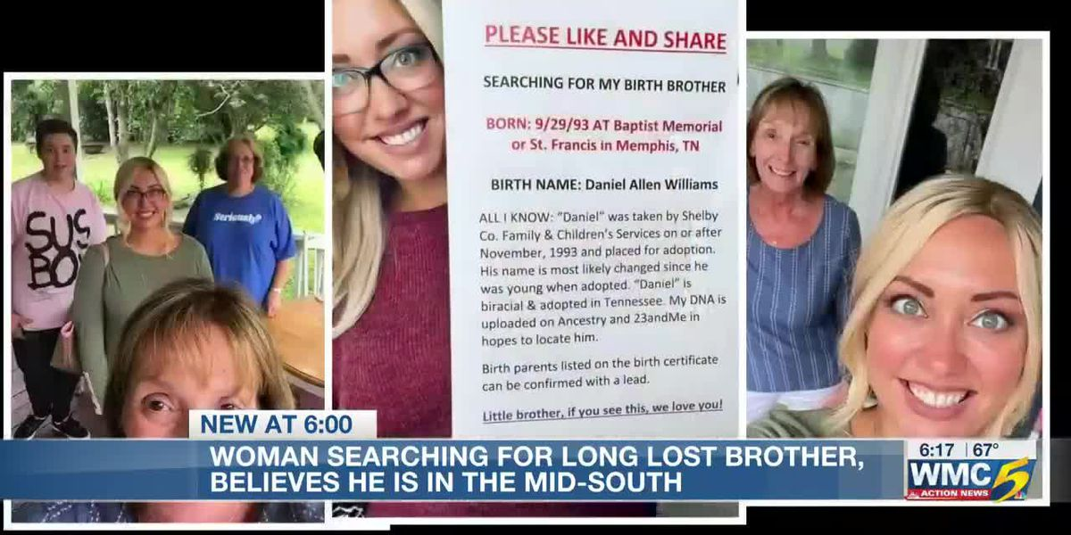 Woman searching for adopted brother who lives in Mid-South