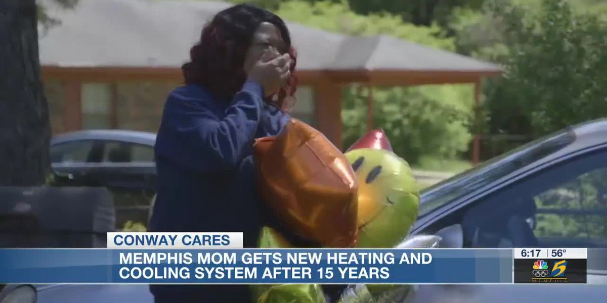Conway Cares: Memphis mom gets new heating and cooling system after 15 years