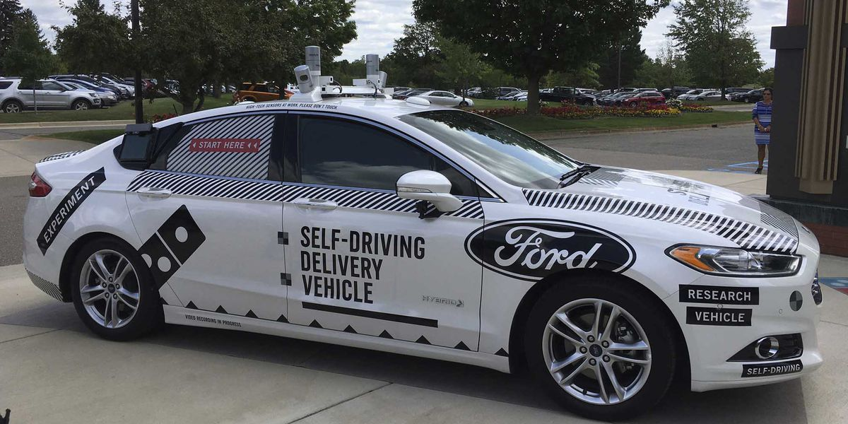 Video shows Domino's self-driving delivery car in action
