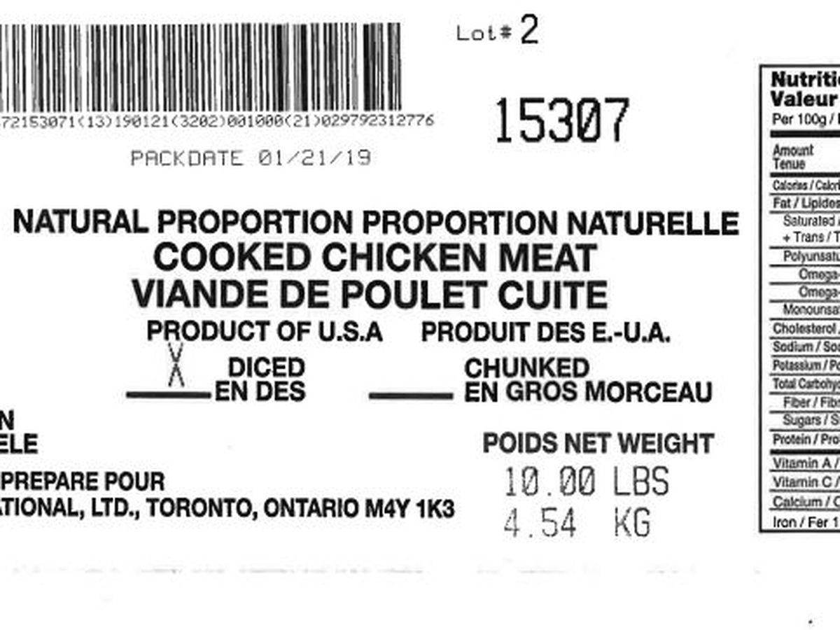 Tip Top Poultry recalls chicken products due to listeria risk, USDA says