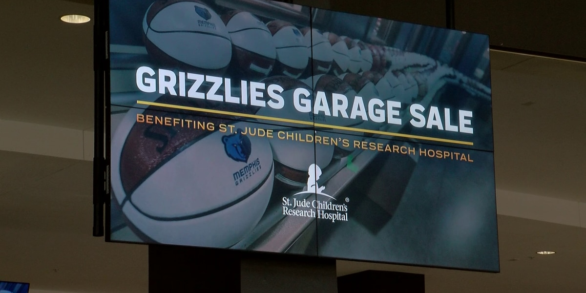 Grizzlies host garage sale at FedExForum