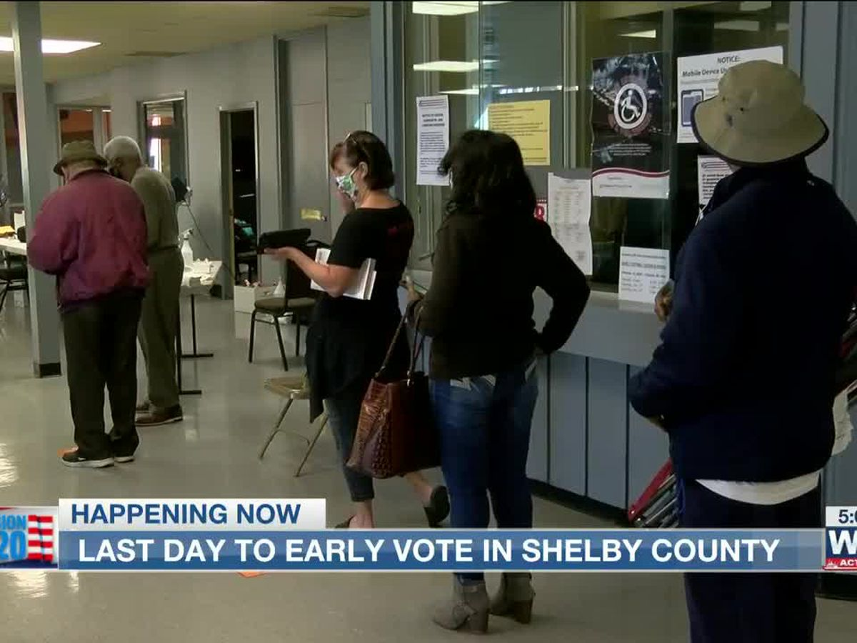 Shelby County voters hurry to cast ballots on last day of early voting