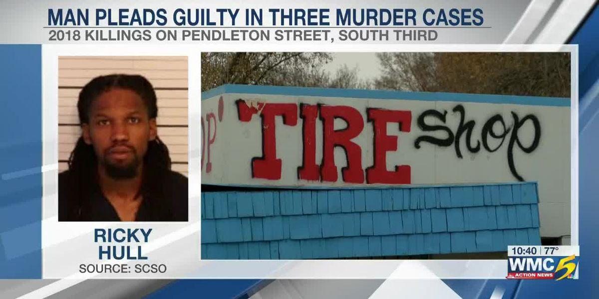 Memphis man pleads guilty in 3 murder cases
