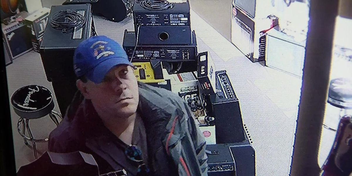 Nashville music store thief caught on camera hiding stolen guitar in his pants