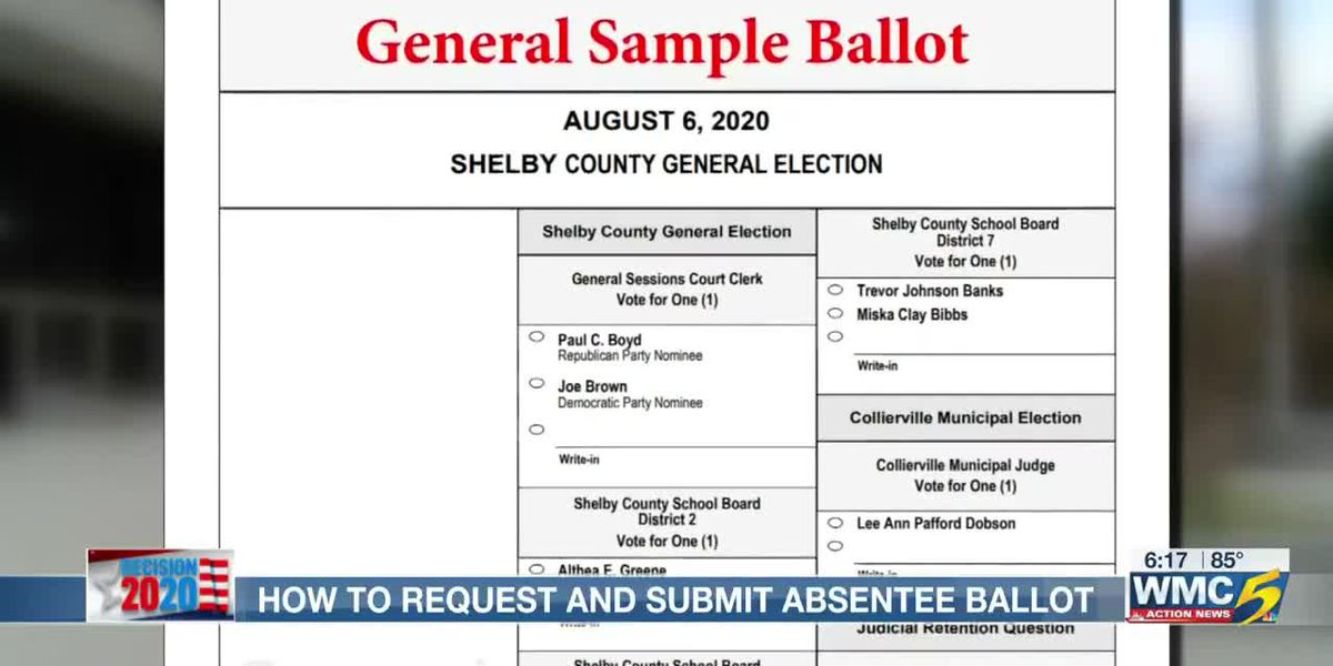 How to request and submit Shelby Co absentee ballot
