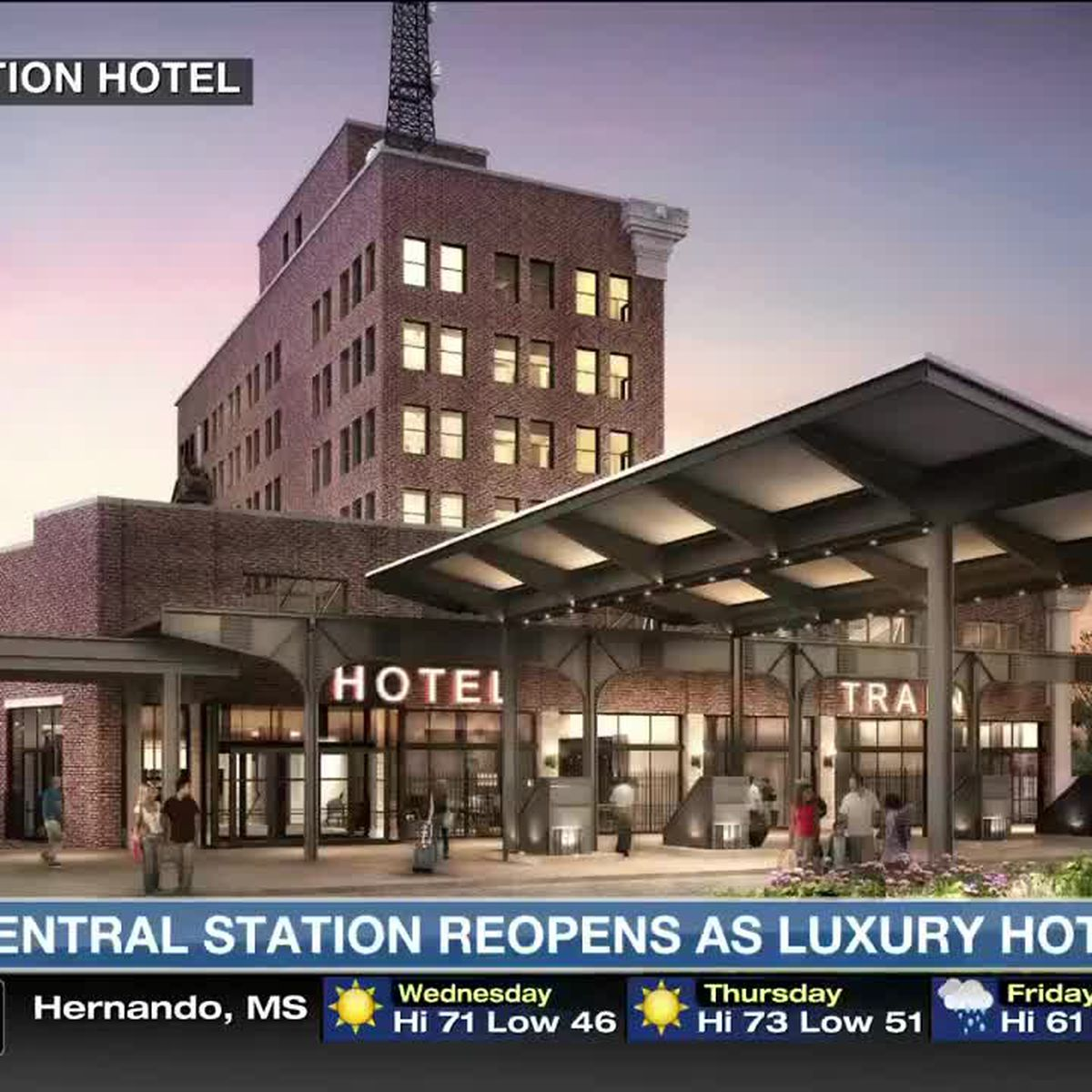 Repurposed Central Station opens as hotel
