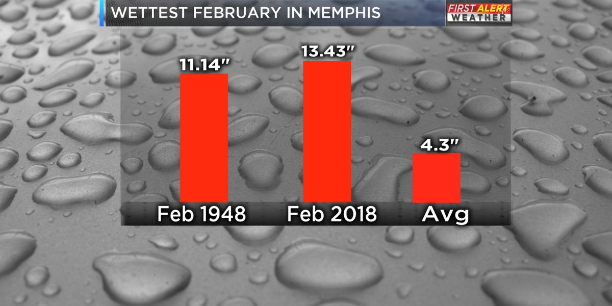 Rain record shattered for February 2018