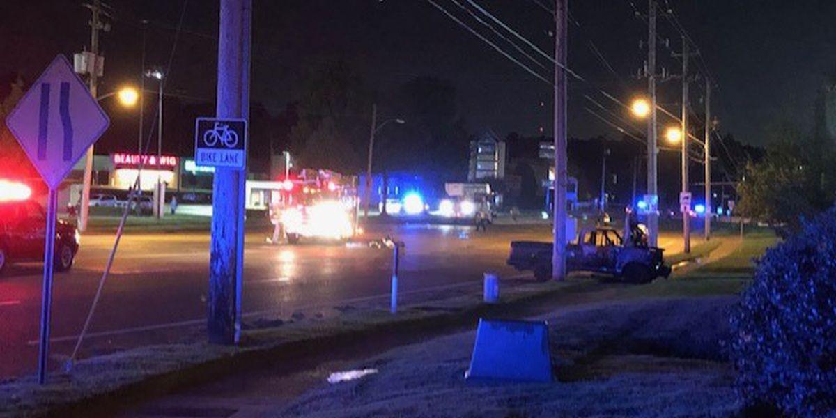 Hwy 385 blocked after 18 wheeler, TDOT truck crash