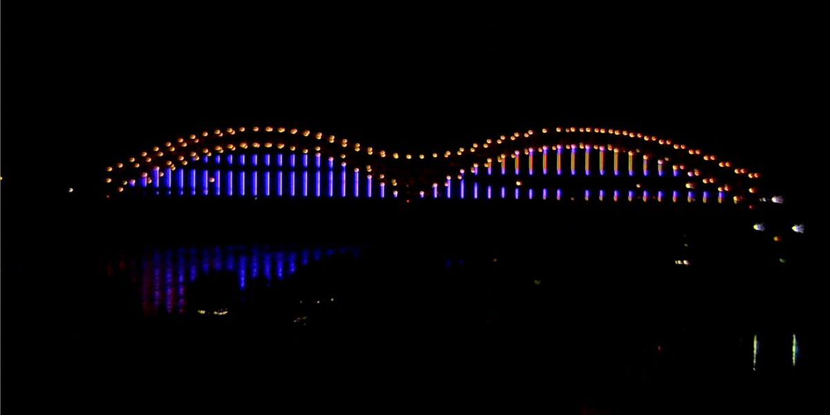 'Mighty Lights' bridge lighting underway
