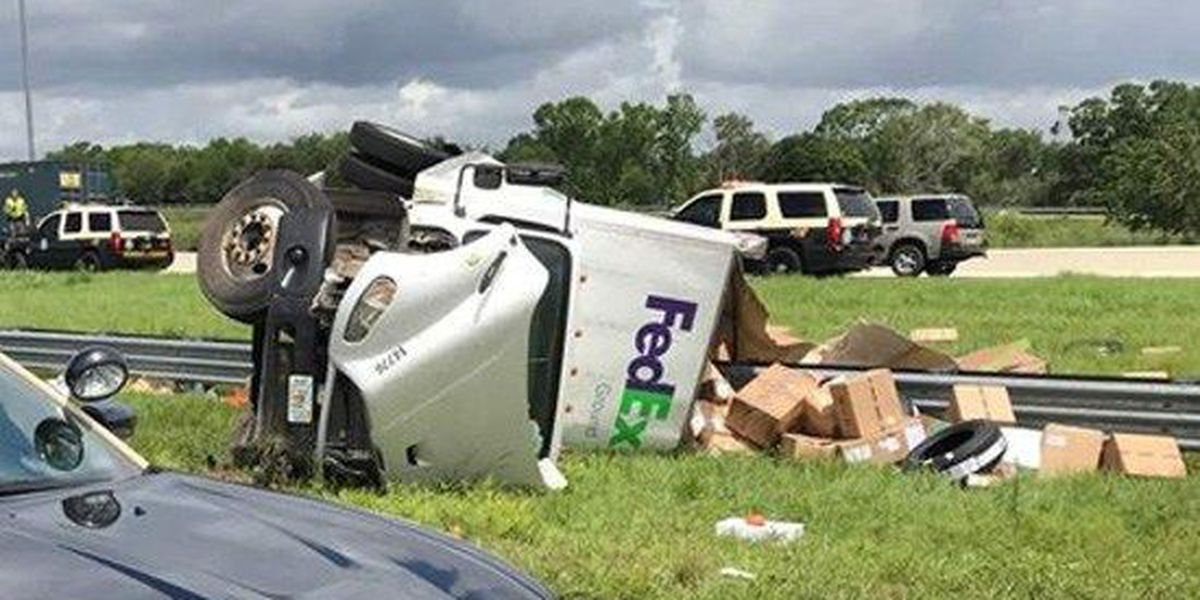 FedEx driver killed in crash on FL interstate