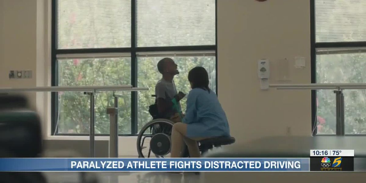 Paralyzed athlete fights distracted driving