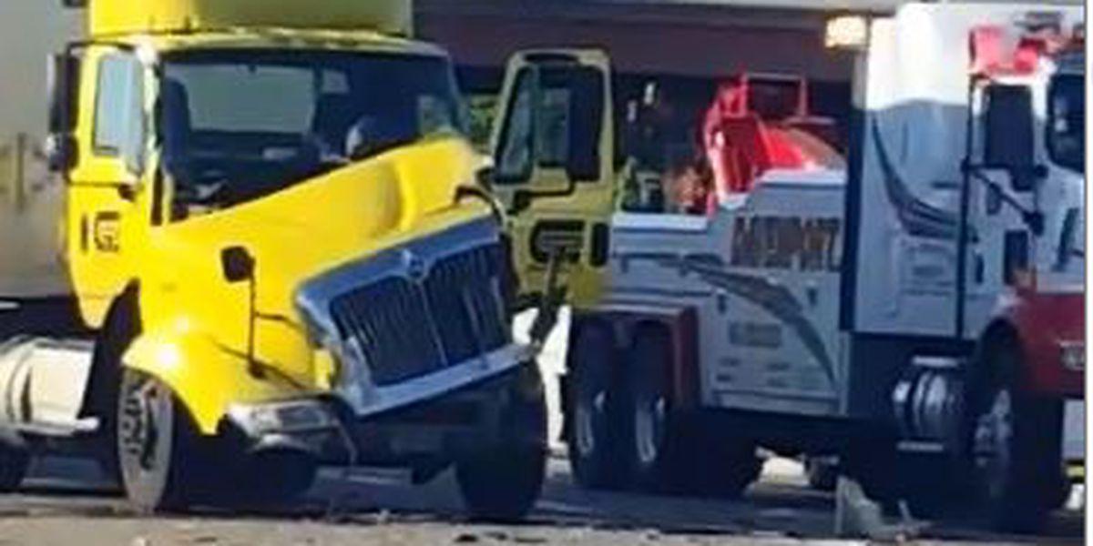 Multi-vehicle crash on I-40 causes traffic back up