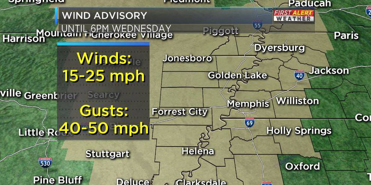 Strong gusty winds today