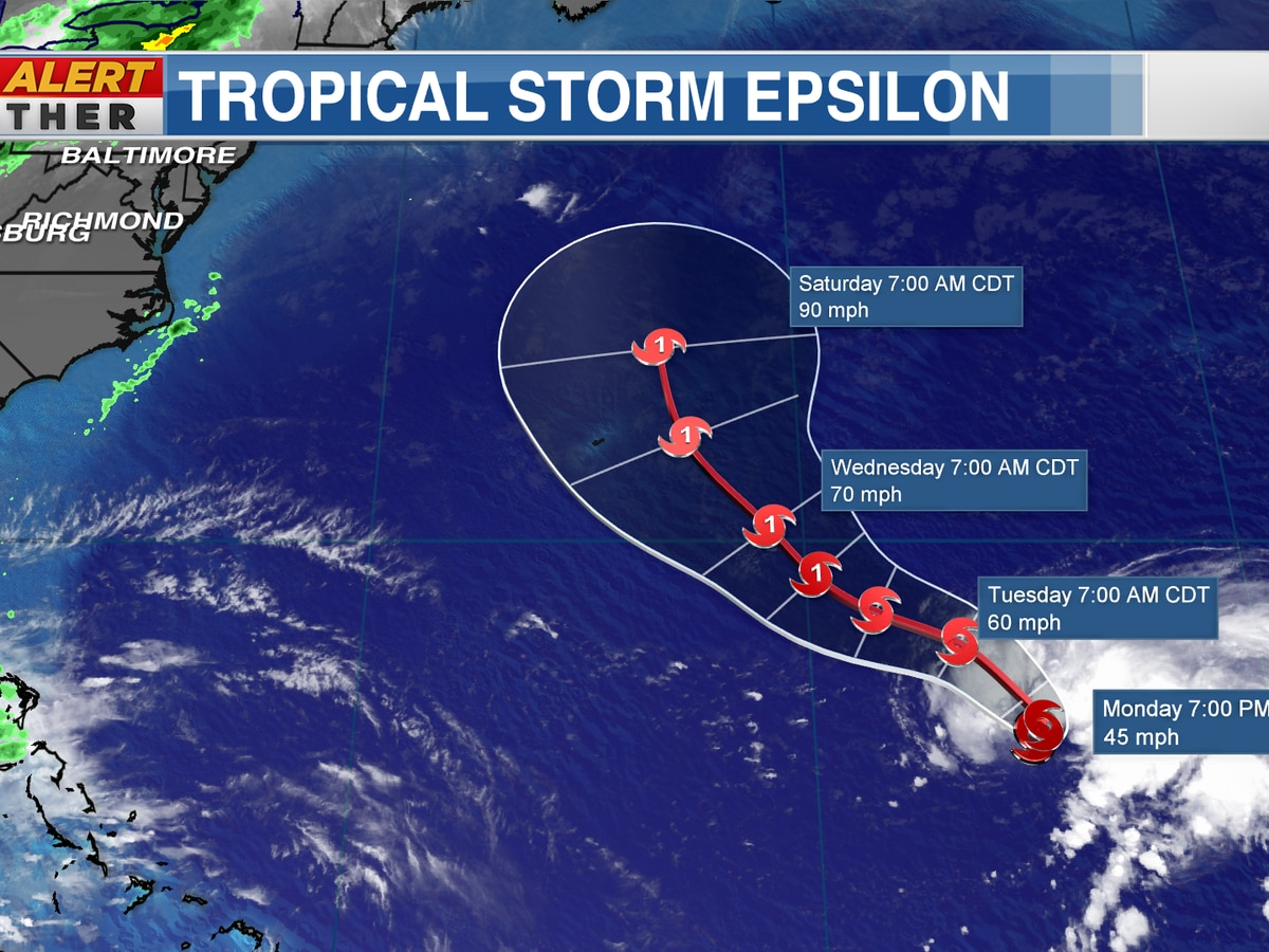 The 26th named storm has formed in the Atlantic