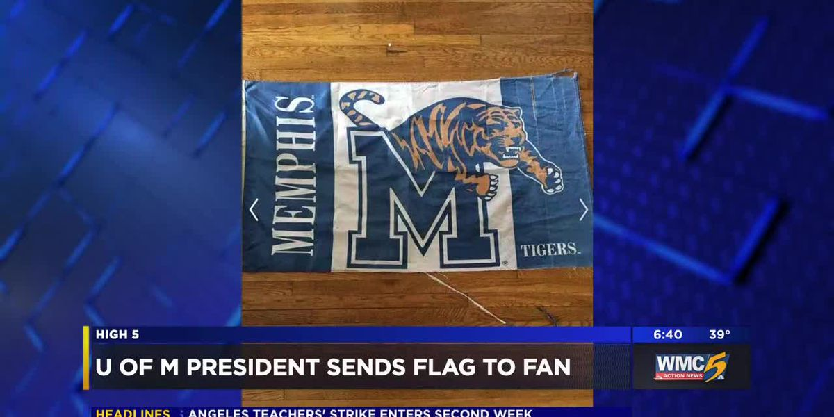 U of M president sends flag to fan