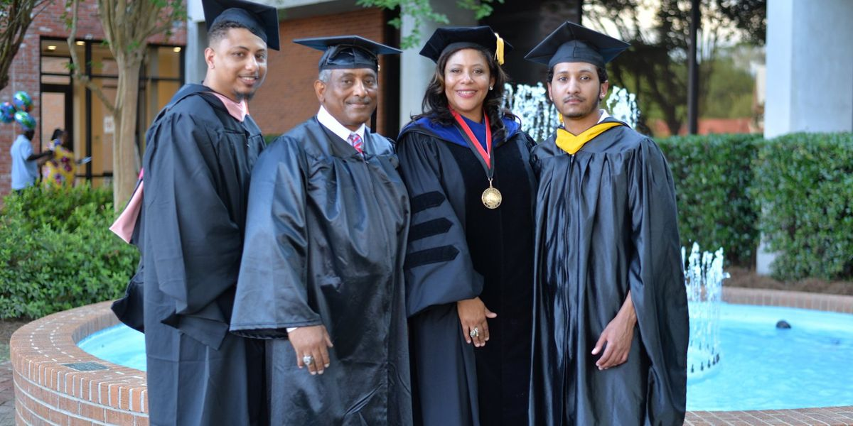 Father graduates alongside his two sons at William Carey University