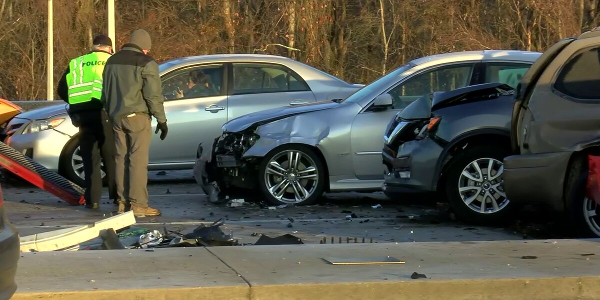 Icy morning commute leads to crashes, closures
