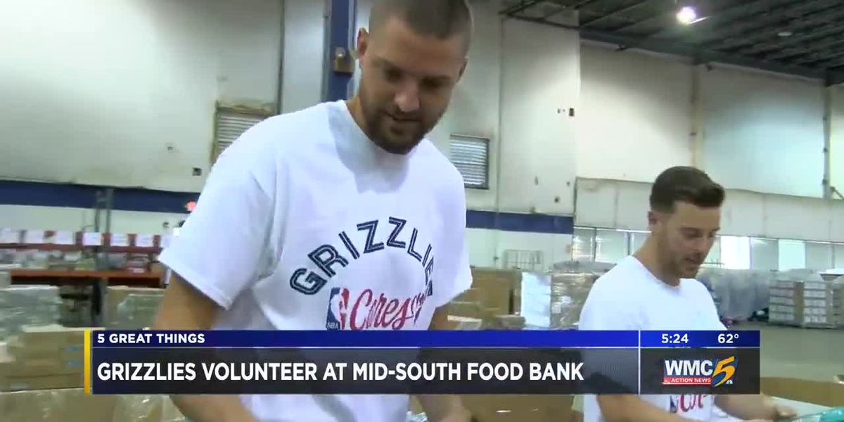 5 Great Things: Grizzlies give back