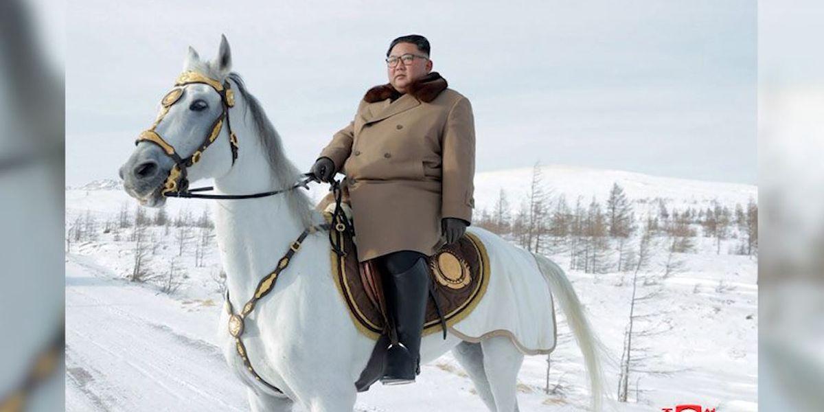 Kim again rides horse up sacred peak as nuke deadline nears
