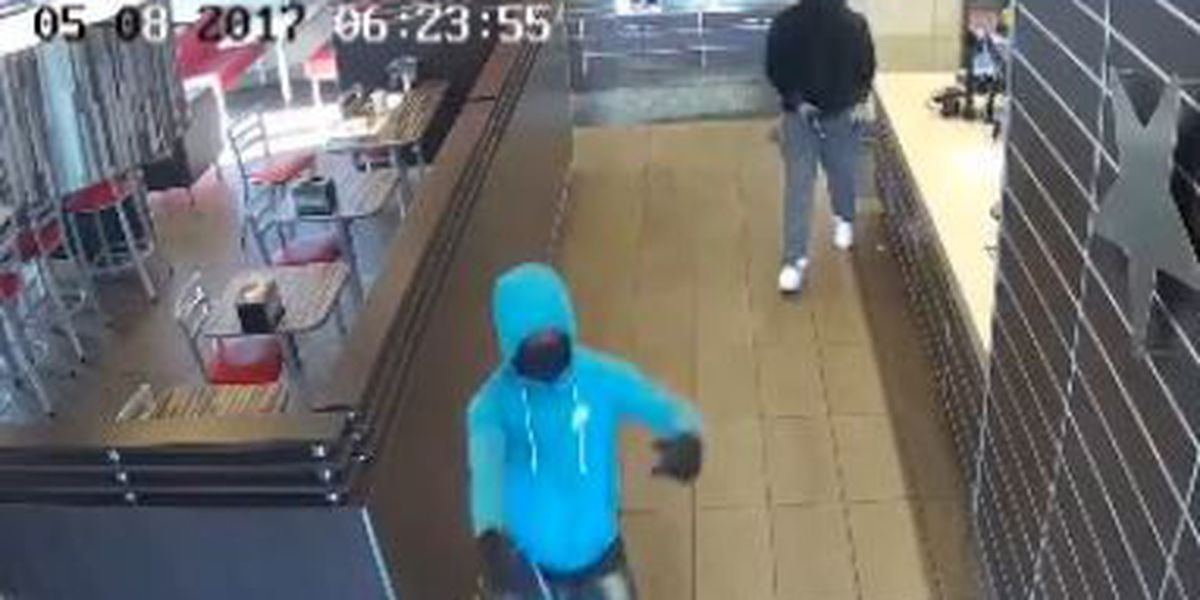 2 men remain on run after Hardee's armed robbery